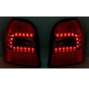 Heckleuchten Audi A4 B5 Avant Klarglas Rot Schwarz