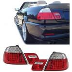 Heckleuchten Bmw 3er M3 E46 Led Klarglas Rot Weiss Cabrio