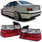 Heckleuchten Bmw 3er M3 E36 Limousine Rot Weiss