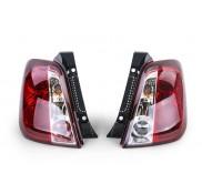 Heckleuchten Fiat 500 Klarglas Rot