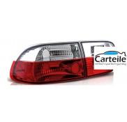 Heckleuchten Civic V Coupe Stufenheck Chrom Rot