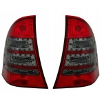 Heckleuchten Mercedes C-Klasse S203 Klargals Rot Schwarz LED