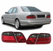 Heckleuchten Mercedes E-Klasse W210 Rot Schwarz LED