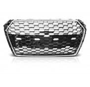 Nieren Grill Kühlergrill Audi A4 B9 15-19 Ohne Emblem Schwarz Chrom