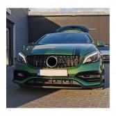 Nieren Grill Kühlergrill Mercedes A Klasse A45 W176 Schwarz Glanz