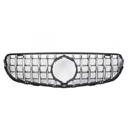 Nieren Grill Kühlergrill Mercedes GLC X253 C253 360° Schwarz Chrom