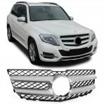 Nieren Grill Kühlergrill Mercedes GLK X204 Silber Chrom