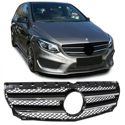 Nieren Grill Kühlergrill Mercedes B Klasse W246 Schwarz Chrom